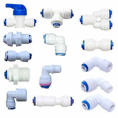 """1/4"""" Push Fit Pipe Fittings - American Fridge and RO Unit Elbow, Tee Piece etc."""