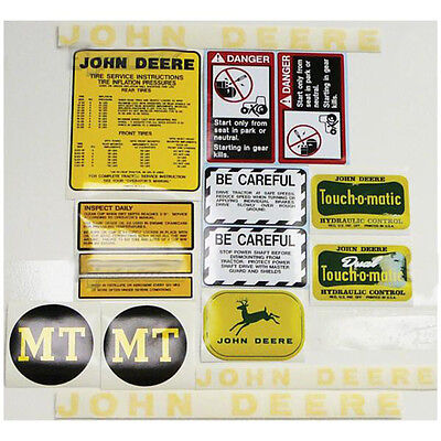 New Complete Decal Set Made for John Deere MT Tractor JD Tractors