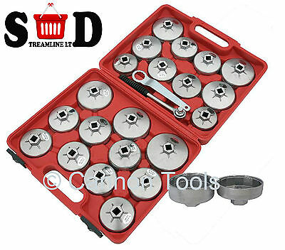 23 Pc Car Oil Filter Removal Replace Twist Extraction Ratchet Wrench Set Ct2967
