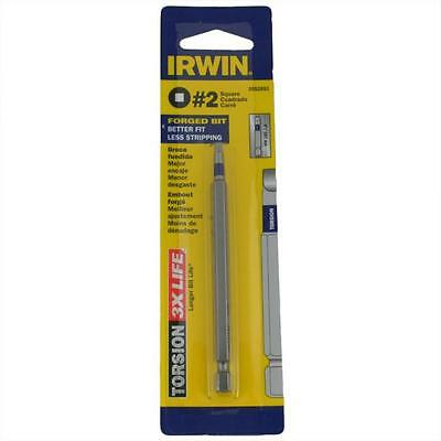 Qty 5 Square Torsion Power #2 No.2 x 101mm Screwdriver Drive Bit Irwin
