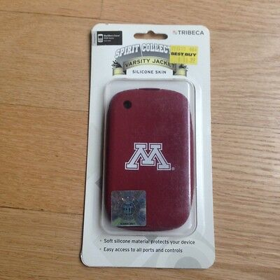 Tribeca Red Silicone Case Minnesota Blackberry Curve 8520 8530 9300 9330 3G