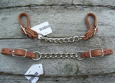 Curb Strap - Harness Leather with Single Chain by Schutz Brothers