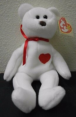 aff2419b1f9  EXTREMELY RARE Mint Retired 94 Valentino Beanie Baby Misspelled Tag PVC  Pellets
