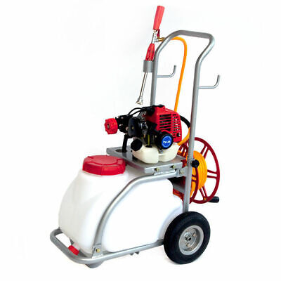 30L Power Sprayer for Weed or Pest Control Spray with Tank Trolley Hose Reel
