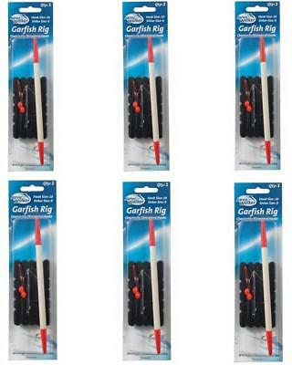 6 X Jarvis Walker Garfish Rigs With Chemically Sharpened Hooks & Beads-Bulk Pack