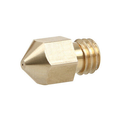 Spare Brass M6 nozzle 0.3mm to 0.5mm for Geeetech MK8 extruder Prusa Mendel