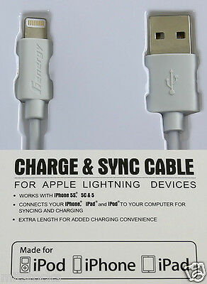 Apple Certified USB Lightning Cable Charger Data Sync For iPhone 5 6 7 8 X White