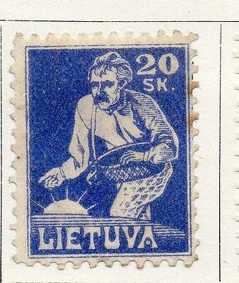 Lithuania 1921 Early Issue Fine Mint Hinged 20s. 104437