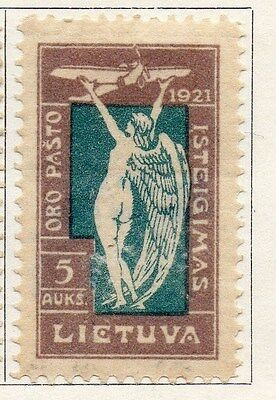 Lithuania 1921 Early Issue Fine Mint Hinged 5auk. 104435