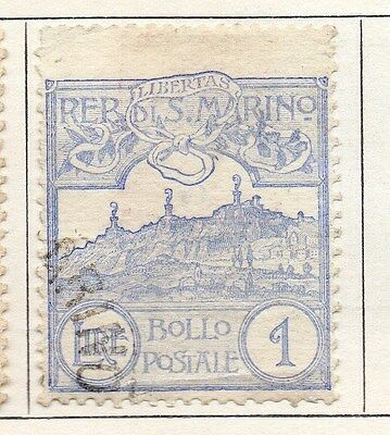San Marino 1925 Early Issue Fine Used 1L. 104690