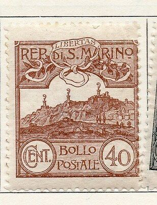 San Marino 1925 Early Issue Fine Mint Hinged 40c. 104687