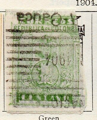 Colombia 1904 Early Issue Fine Used 1c. 105544