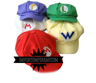 SUPER MARIO BROS. CAPPELLO Berretto cosplay Costume wario waluigi Luigi fire hat