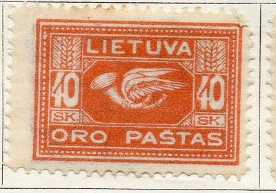 Lithuania 1921 Early Issue Fine Mint Hinged 40s. 104258