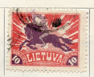 Lithuania 1921 Early Issue Fine Used 10auk. 104255