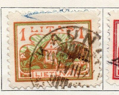 Lithuania 1923 Early Issue Fine Used 1L. 104223