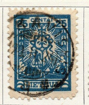 Lithuania 1923 Early Issue Fine Used 25c. 104219