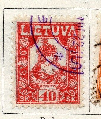 Lithuania 1921 Early Issue Fine Used 40s. 104250