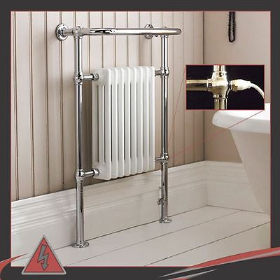 "673mm(w) x 963mm(h) 500W Electric Pre-filled ""Old Colwyn"" Traditional Towel Rail"