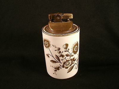 Rare Vintage HAMMERSLEY and Co Bone China 6335 Table Lighter Gold Flower Pattern