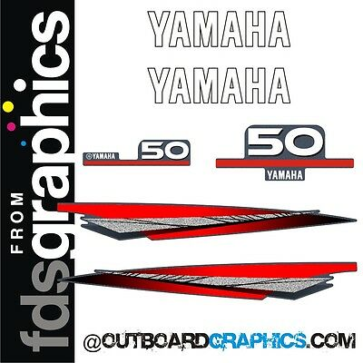 Yamaha 50hp outboard engine graphics/sticker kit