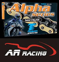 Tsubaki Alpha X Ring Gold Motorcycle Drive Chain 530 Pitch 112 Links