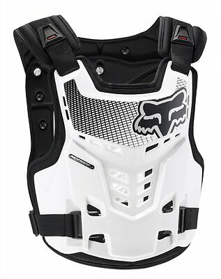 Fox Racing Youth Boys Proframe LC Roost Guard Chest Deflector White