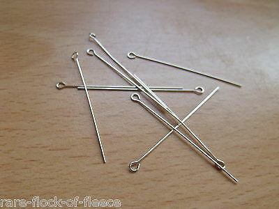 "925 Sterling Silver Eye Pins 1"" 1.5"" & 2"" For Jewellery Making/repairs"