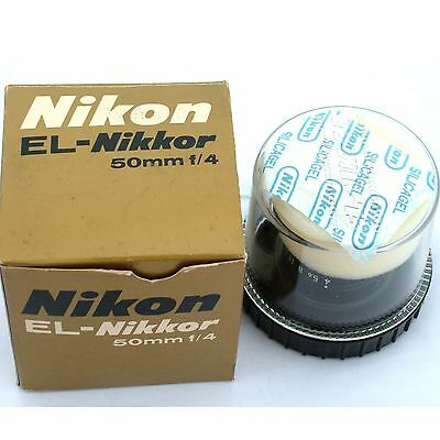 Nikon EL-Nikkor 50mm f4.0 enlarging lens, near mint condition