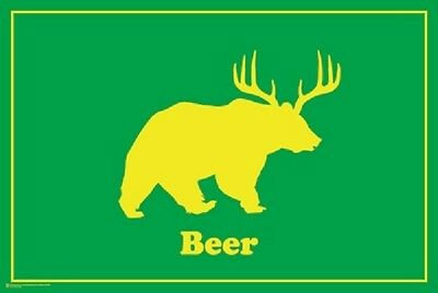 Beer Bear POSTER (61x91cm) Picture Print New Art