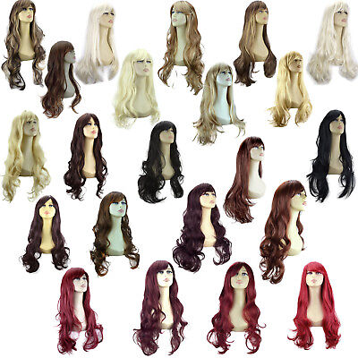 "20"" & 22"" Ladies FULL WIG Long Wavy Curly Loose Waves Flick 3 STYLES/30 SHADES"