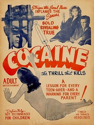 """Cocaine"" 1930's Vintage Drug Movie Poster - 24x32"