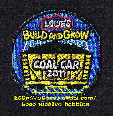 LMH PATCH Badge TRAIN COAL CAR 2011 LOWES Build Grow Kid's Clinic Holiday Engine