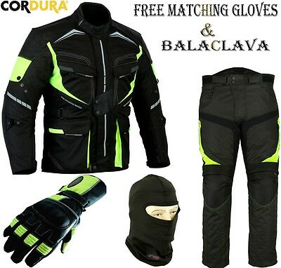 Speed Rider Hiviz Mens Ce Motorbike / Motorcycle Textile Jacket Trouser Suit