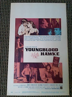 Youngblood Hawke 1964 Original Window Card Movie Poster Suzanne Pleshette