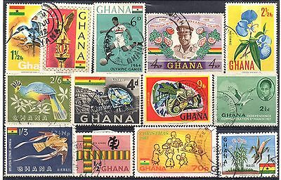GHANA = Selection of Good / Fine Used stamps. QE2.