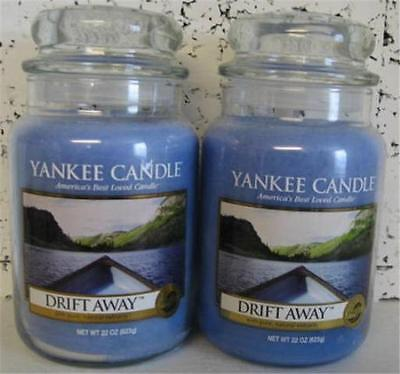 DRIFT AWAY Yankee Candle 22 oz Jars  LOT of 2