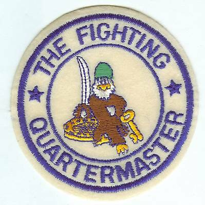 US ARMY PATCH THE FIGHTING QUARTERMASTED ON FELT