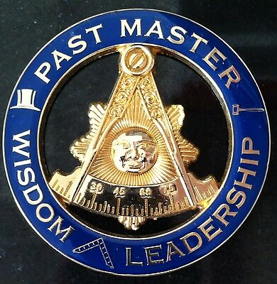 Past Master with Attributes Car Emblem