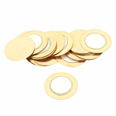 20 Pcs 20mm Diameter Film Gasket Round Piezo Ceramic Disc Piezoelectric Buzzer