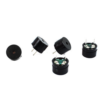 5 Pcs DC 3/5V 15mA Cylinder Electronic Continuous Sound Buzzer 12x8.5mm