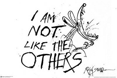 RALPH STEADMAN POSTER (61x91cm) I AM NOT LIKE THE OTHERS PICTURE PRINT NEW ART