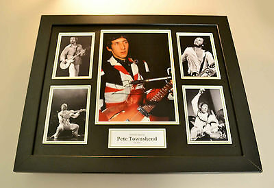 Pete Townshend Signed Photo Large Framed The Who Autograph Display + COA