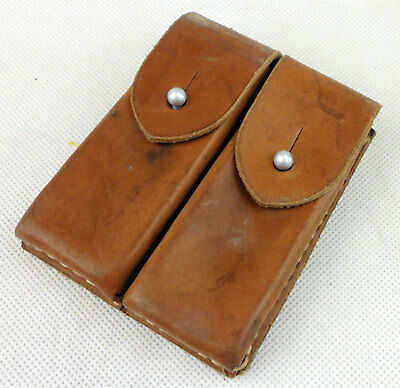 Surplus Chinese Military Army Leather Type 54 Magazine Bag Pouch Holder-D757