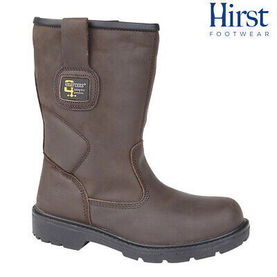 Grafters Waterproof Safety Rigger Boots Size Uk 6 - 13 Mens Leather M560B Kd