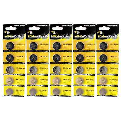5x 5pk 3V Lithium Coin Cell Battery CR2032 Replaces BR2025-1W FAST USA SHIP