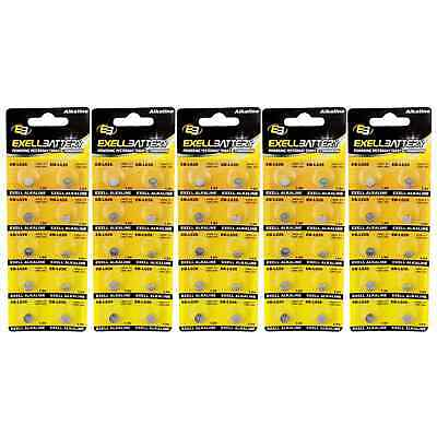 5pc 10pk Exell EB-L626 Alkaline 1.5V Watch Battery Replaces AG4 377