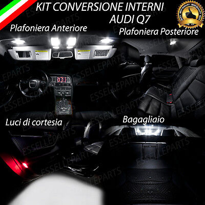 Kit Led Interni Audi Q7 Plafoniere Ant + Post + Luci Di Cortesia + Bagagliaio