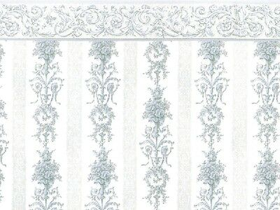 1/12scale  Dolls House Wall Paper  Symphony Stripe Blue   PP75