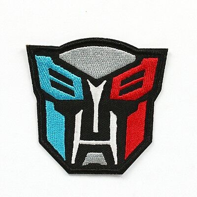 1pcs Transformers Fabric Embroidered Iron/Sew On Patch for kids Clothes